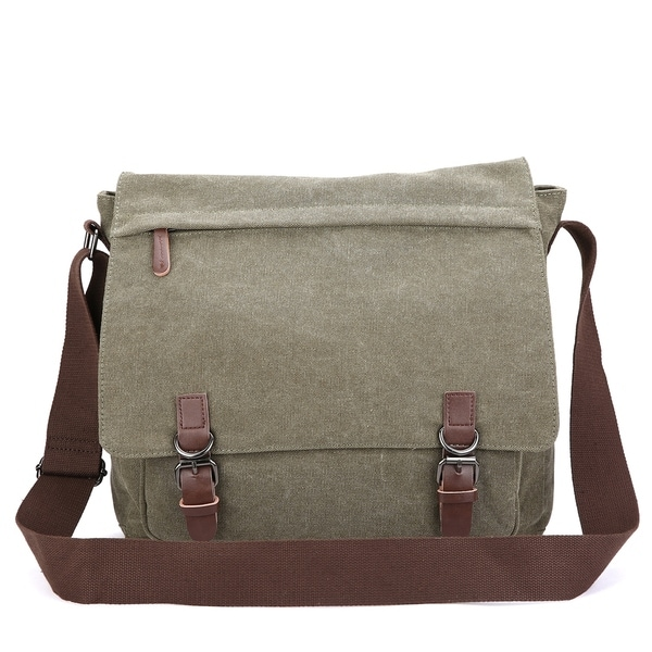 341004e58c Shop Dasein Vintage Unisex Large Canvas Messenger Bag Cross body ...