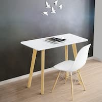 Sleeplanner  Wood Dining Table, White  31.5 30TB10D
