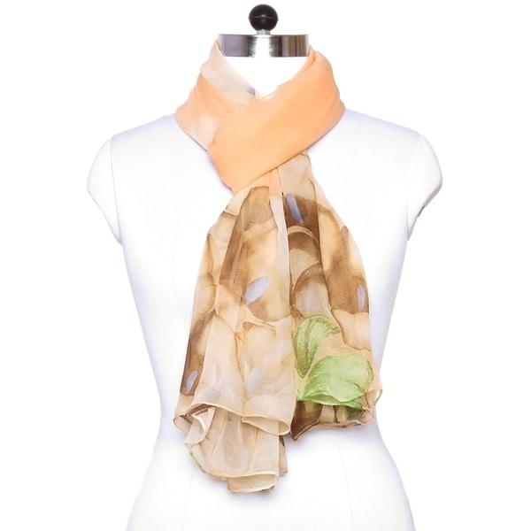 Raw Thai Silk Beautiful Scarf women Green Two Tone Colorful Summer Shawl Gift