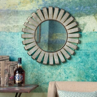 Metal Wind Mill Wall Mirror