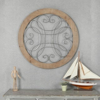 Link to Wood and Metal Circular Scroll Wall Decor Similar Items in Wall Sculptures