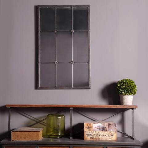 37.75in. H Metal Window Frame Wall Mirror - Antique Brown - A/N