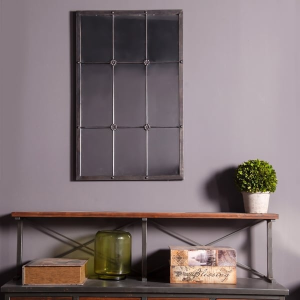 37.75in. H Metal Window Frame Wall Mirror - A. Opens flyout.