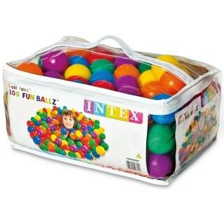 INTEX Small Plastic Multi-Colored Fun Balls - 100 Pack