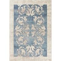 Libby Langdon Winston Teal Watercolor Batik Rug - 8'9 x 13'