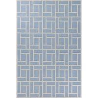 Libby Langdon Soho Ice Blue Brick By Brick Rug - 8'6 x 11'6