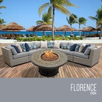 Florence 6 Piece Outdoor Wicker Patio Furniture Set 06k