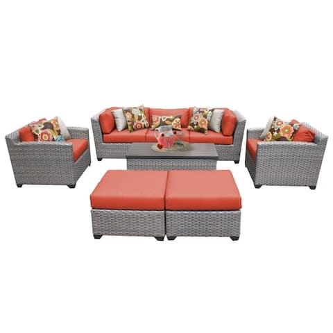 Florence 8 Piece Outdoor Wicker Patio Furniture Set 08c