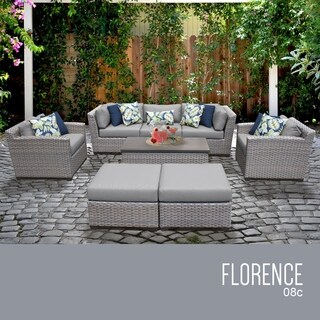 Florence 8 Piece Outdoor Wicker Patio Furniture Set 08c (More options available)