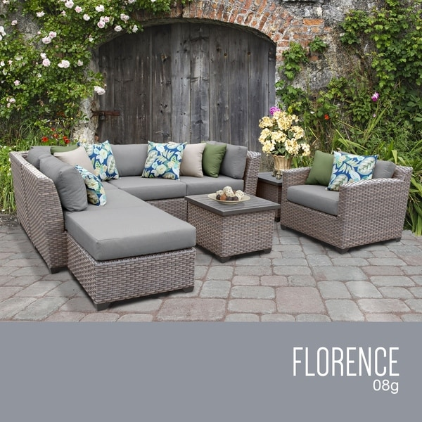 Florence 8 Piece Outdoor Wicker Patio Furniture Set 08g