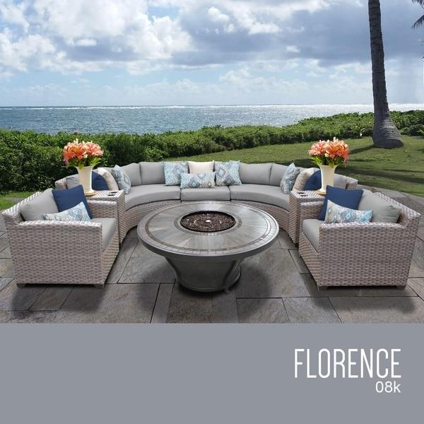 Florence 8 Piece Outdoor Wicker Patio Furniture Set 08k