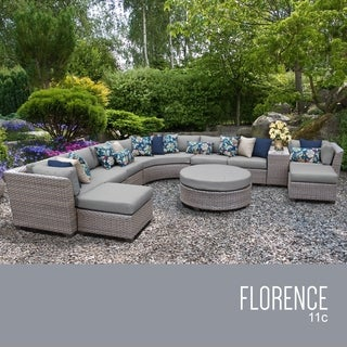 Florence 11 Piece Outdoor Wicker Patio Furniture Set 11c
