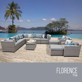 Florence 13 Piece Outdoor Wicker Patio Furniture Set 13a (More options available)