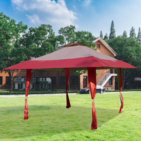 13' x 13' Easy assemble Gazebo, Burgundy Tan