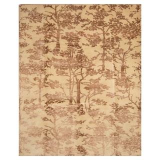Handmade One-of-a-Kind Wool and Silk Tibetan Rug (India) - 8' x 10'
