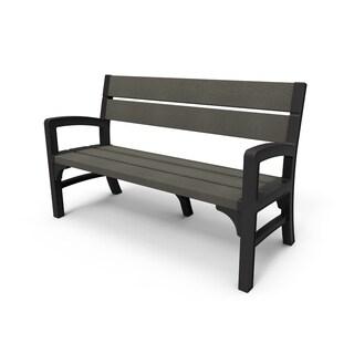 Keter Montero 3-Seater Plastic Resin Outdoor Bench