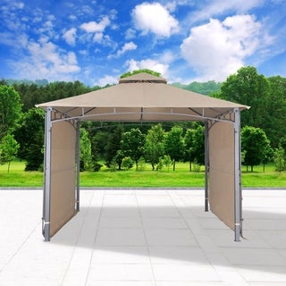 "130"" x 130""Outdoor Gazebo with Two Side, Sand"