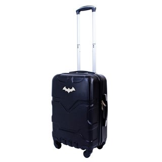 DC Comics Batman 21in Hardsided Carry-On Luggage Spinner, Black