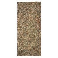 Artist's Loom Gala Collection Handmade Geometric Wool Rug - 3'9 x 8'3