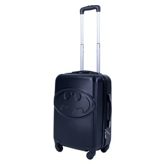 DC Comics Batman 20in Hardsided Luggage Spinner, Black