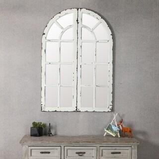 Set of 2 Window Panels with Mirror
