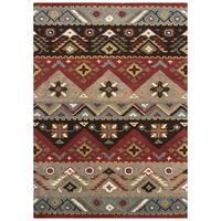 Artist's Loom Asty Collection Handmade Southwestern Wool Area Rug - 5' x 7'9