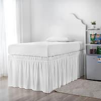Ruffled Dorm Sized Bed Skirt - White
