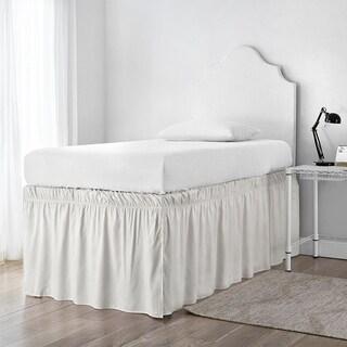Ruffled Dorm Sized Bed Skirt - Jet Stream