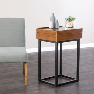 Holly & Martin Cayson Dark Tobacco Storage Lift-Top Side Table