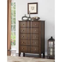 Abbyson Andre Brown 5 Drawer Chest