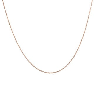 "14K Rose Gold 16"" Rope Chain with Spring Ring Clasp"