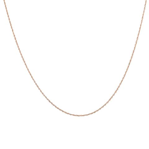 """14K Rose Gold 18"""" Rope Chain with Spring Ring Clasp"""