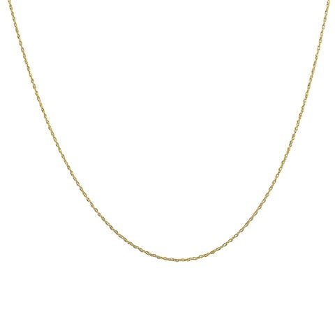 """10K Yellow Gold 18"""" Rope Chain with Spring Ring Clasp"""