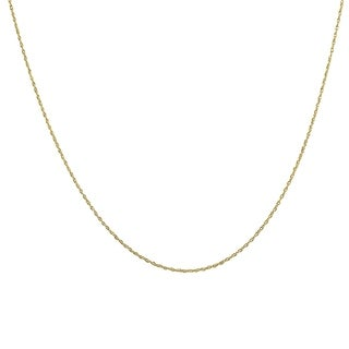 "10K Yellow Gold 18"" Rope Chain with Spring Ring Clasp"
