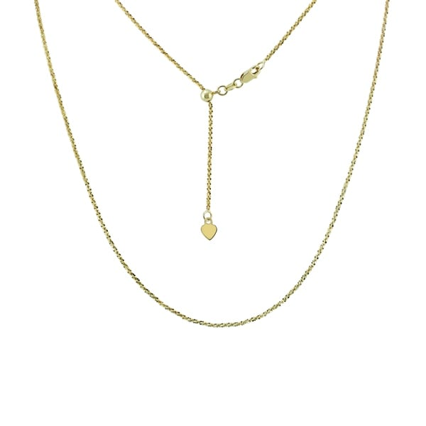 14K Yellow Gold Panther Pendant on an Adjustable 14K Yellow Gold Chain Necklace
