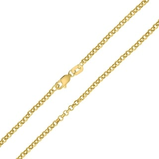 14K Yellow Gold 2 3mm Round Rolo Chain With Lobster Clasp 20 Inch