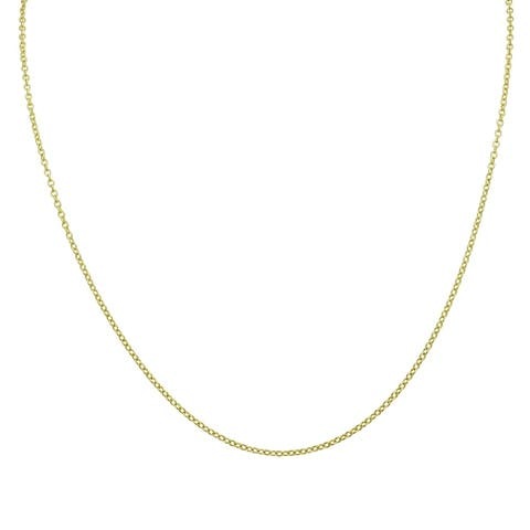 14K Yellow Gold Fill 18 Inch Cable Chain
