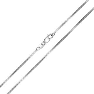 10K White Gold 1 5mm Diamond Cut Gormette Chain With Spring Ring Clasp 20 Inch