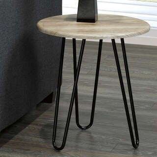 Tario-Faux wood/Metal Accent Table