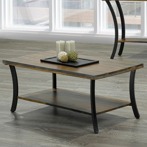 Surin-Solid wood/Iron Coffee Table