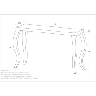 Natalia-Solid wood/Chrome Console Table