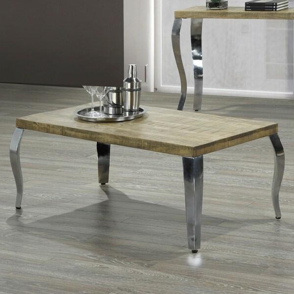 Shop Natalia-Coffee Table-Reclaimed/Chrome