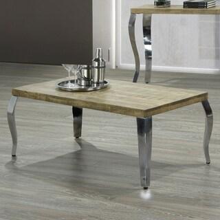 Natalia-Coffee Table-Reclaimed/Chrome