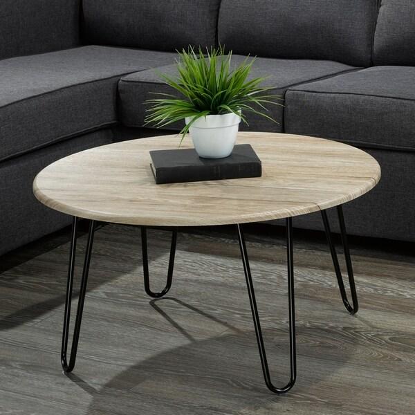 Tario-Faux wood/Metal Coffee Table