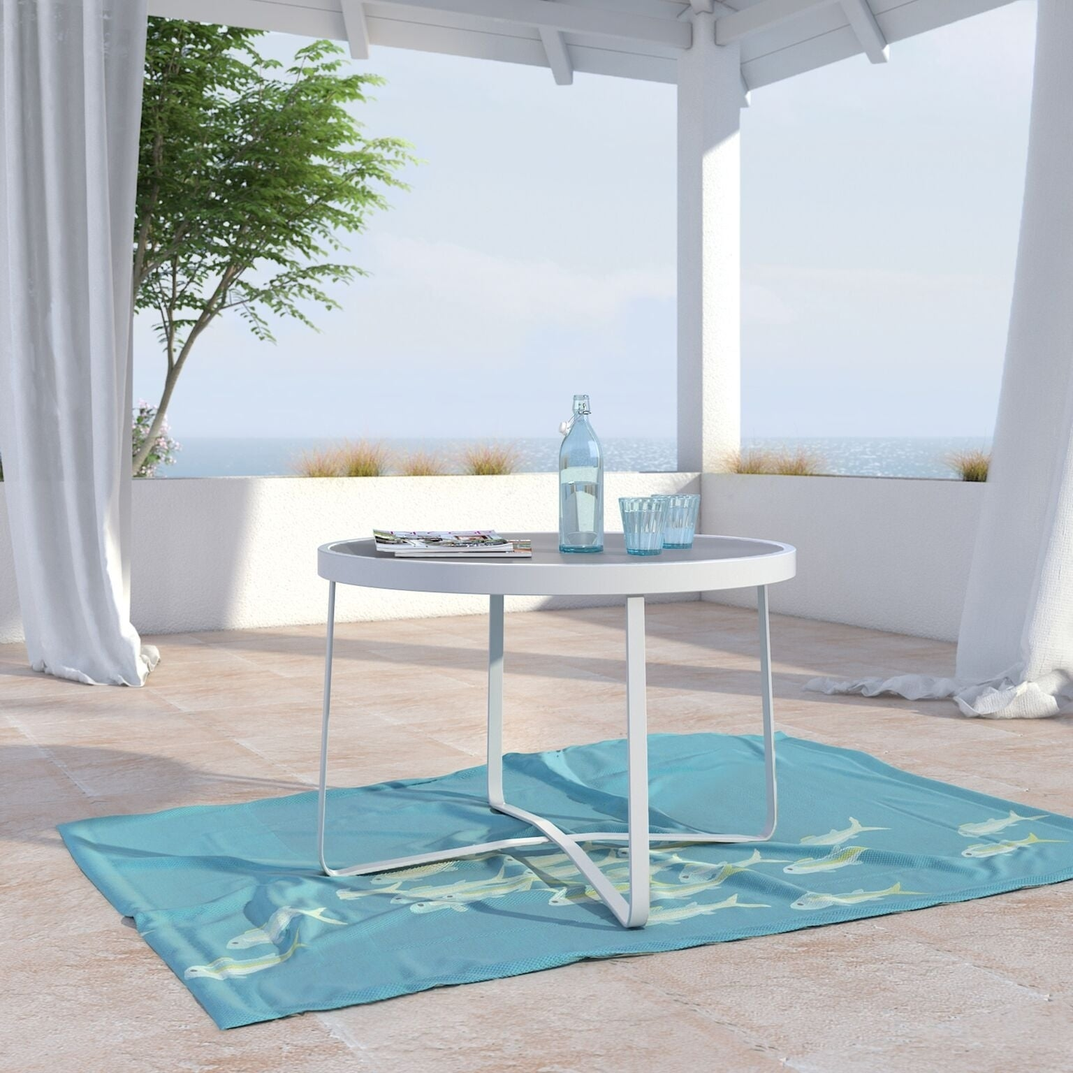 Elle Decor Mirabelle Outdoor Coffee Table French White