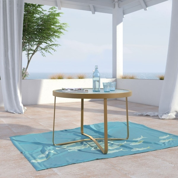 French Outdoor Coffee Table: Shop Elle Decor Mirabelle Outdoor Coffee Table, French