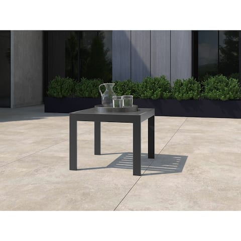 Tommy Hilfiger Monterey Outdoor Side Table, Gray Gunmetal