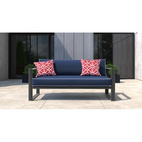 Tommy Hilfiger Monterey Outdoor Sofa, Gray Gunmetal