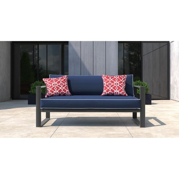 Excellent Shop Tommy Hilfiger Monterey Outdoor Sofa Gray Gunmetal Caraccident5 Cool Chair Designs And Ideas Caraccident5Info