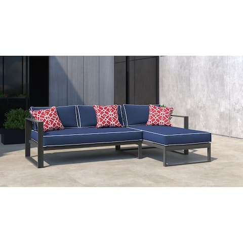 Tommy Hilfiger Monterey Outdoor Sectional, Gray Gunmetal